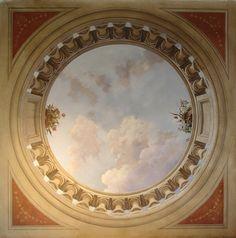1 Ceiling Murals, Paint Ceiling, Vintage Floral Backgrounds, Patina Paint, 3d Painting, Cherub, Vintage Art, Geometry, Art Nouveau