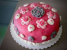 #cake #flowers #pink #blue