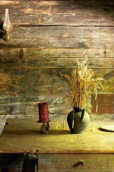 alpine farmhouse interior, Alps, Austria