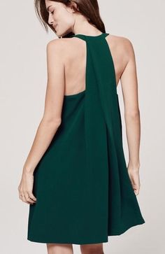 Ann Taylor Loft T Back Trapeze Dress Green Size Medium | eBay
