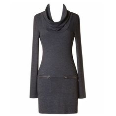 Spotted while shopping on Poshmark: Just In!! Charcoal turtleneck knit dress! #poshmark #fashion #shopping #style #Naturally Spiritual Boutique #Dresses & Skirts