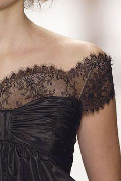 Slightly off the shoulder lace