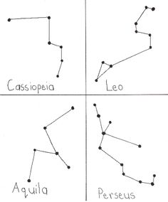 Printable Constellation Worksheets | Two sample sheets of constellations for handouts.Click for a printable ...