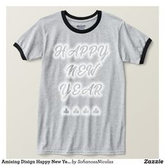 8d19f104 Amising Disign Happy New Year 2019 tshirts Happy New Year 2019