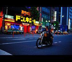 Biker in Roppongi.