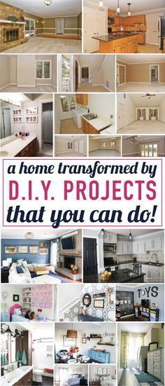 Wow, wow, wow! This home tour shows how you can totally transform a builder grade home by completing DIY home decor projects! Absolutely amazing! *** Check out the image by visiting the link. #affordablehomedecor