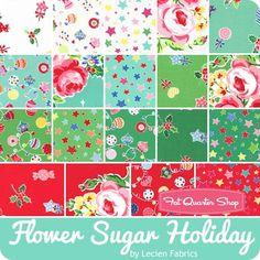 Flower Sugar Holiday Fat Quarter Bundle Lecien Fabrics - Fat Quarter Bundles | Fat Quarter Shop