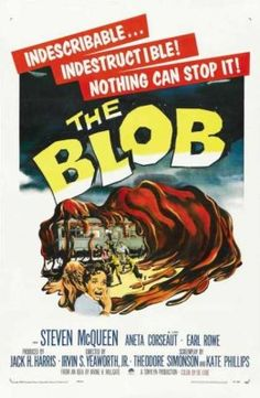 The Blob Horror Movie Poster