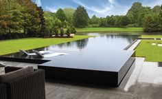 Award winning zero-edge pool design
