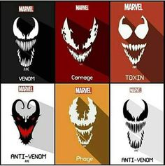 Venom Comics, Marvel Venom, Marvel Villains, Marvel Comics Art, Marvel Heroes, Marvel Movies, Toxin Marvel, Arte Tim Burton, Symbiotes Marvel
