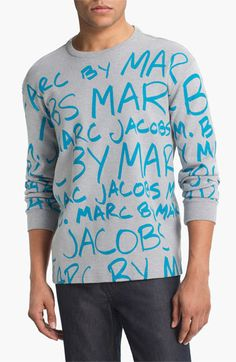MARC BY MARC JACOBS 'MBMJ' Graphic Crewneck Sweatshirt available at Nordstrom