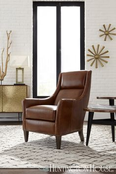 With Elegant Flared Arms And Curving Back, The New Huntington House Chair  Is The Perfect Example Of Enduring Style And Quality. Shown In A Beautiful  Cognac ...