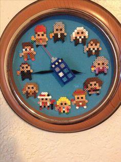 Doctor Who Perler Bead Clock