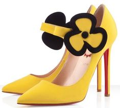 Louboutin pensee shoe.  I'm don't like yellow but I love these...