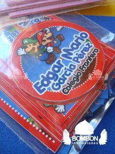#Mario #Bros #Personalized #Label #Sticker ¡Everybody ready! https://www.facebook.com/invitaciones.bombon