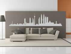 Kuala Lumpur Malaysia City Skyline Interior Wall Decal Sticker WITHOUT Lettering.