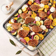 Meso i povrće – savršen par Confort Food, Sheet Pan, Summer Recipes, Sausage, Food And Drink, Pork, Cooking Recipes, Keto, Meals