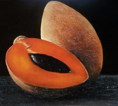 Behold a Mamey! If you've never had a mamey shake...you haven't had the best fruit shake in the world!!