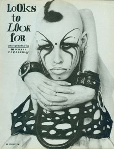 """""""The Club Kids were about fun. Wild, messy fun- the more debauched, the better"""" . Vintage Goth, Face Reference, Drawing Reference, Gothic Musik, Punk Makeup, New Romantics, Club Kids, Punk Goth, Post Punk"""