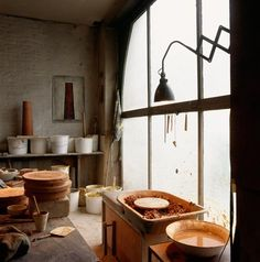 Where I'd like to be right now. Ceramic studio