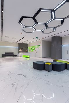 Image 3 of 23 from gallery of H - Avenue / Urban Office + Ioana Bogza. Photograph by Arthur Tintu Office Ceiling Design, Interior Ceiling Design, House Ceiling Design, Bedroom False Ceiling Design, Interior Decorating, Design Bedroom, Corporate Interior Design, Corporate Event Design, Corporate Interiors