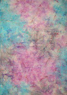 """Indonesian Batiks/ Pink Circles 45"""" wide/per yard (11.85)"""