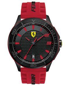 Ferrari | Scuderia Men's Scuderia Red Silicone Strap Watch 48mm 830136 for Men | Lyst