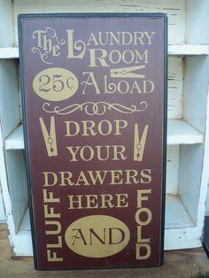 Laundry Room Typography Subway Sign Primitive by PrimAtticSigns, $34.00