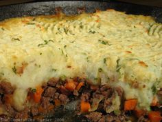 Shepards pie...think I will make this on Saturday.