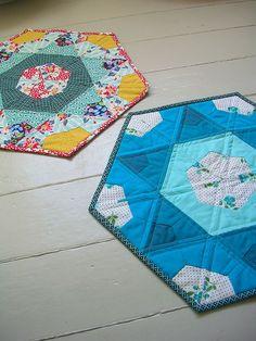 hexagon floor quilt for the kids room?