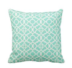 Lattice Lagoon Outdoor Zippered Throw by PrimalVogueHomeDecor