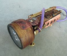 Steampunk Flashlight - DIY Instructions. Looks like a lot more work than I'd want to do but I like it