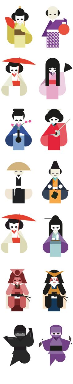 Geishas on Character Design Served