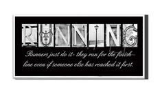 RUNNING  Inspirational Plaque black & white by DPPhotography, $10.00