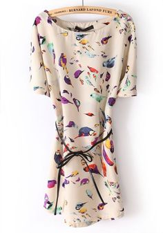 Little Birds Chiffon Dress