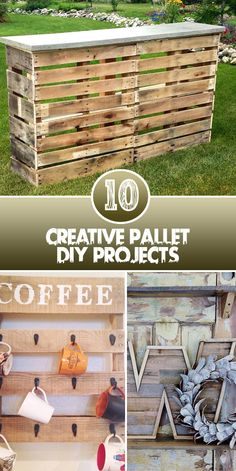 10 Creative Pallet DIY Projects Nobody imagined once used majority for storage and shipping purposes, the wooden pallets will come handy for making some fantastic DIY projects. Here is a list of 10…