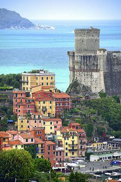 Le case di Lerici, Liguria, Italy