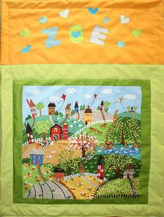 Zoé - blanket for my second grandchild 70 x 100 cm 2017. www.masnimesi.net