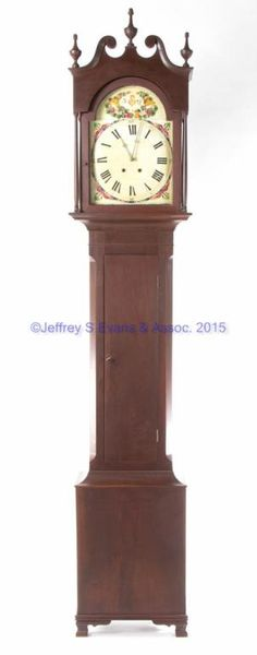 A superb 4 1//2 inch antique hardwood turned finial furniture clock mirror top F4