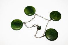 A sterling silver bracelet with four dangly green agate discs. It is adjustable and is stamped 925 on the clasp. ~~~~~~~~~~~~~~~~~~~~~~~~~~~~~~~~~~~~~~~~~~~~~~~~~~~~~~~~~~~~~~~~~~~~~~~~~~~~~~~~~~~~~~~~~~~~~~~~~~~. | eBay!