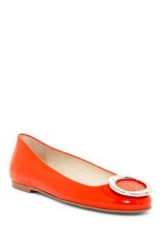 Frances Round Toe Flat