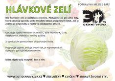 ZÁŘÍ - Zelí - 30ti denní výzva Dieta Detox, Wellness, Planer, Cabbage, Vegetables, Food, Slim, Losing Weight, Tips