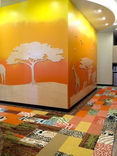 FLOR / Made You Look-Follow The Herd, Spot On, and Cambium / Smiles Gone Wild /  Houston, TX / Love this colorful and happy pediatric dental office in Cypress!