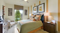 Your #guests will love spending the night in this Darling Homes #guest #bedroom with a #beach vibe.
