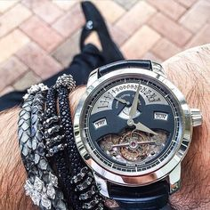 """""""Sick Christophe Claret Tourbillon paired with some #StingHD and #PythonHD bracelets by @Spjeweler #whatchs"""""""