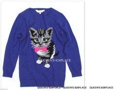 NWT Girls Size X-Small 5-6 77kids American Eagle Animal Print Cardigan Sweater
