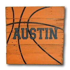 Basketball Sign / Wood Sports Sign / Boys Room Decor