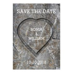 Stove Carved Heart Save The Date Magnetic Card - wedding invitations diy cyo special idea personalize card