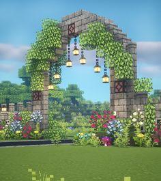 Minecraft Garden, Minecraft Farm, Minecraft Mansion, Cute Minecraft Houses, Minecraft House Tutorials, Minecraft Castle, Minecraft Plans, Amazing Minecraft, Minecraft Survival