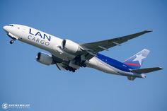LAN Cargo Boeing 777-F16 takeoff! - LAN Cargo Boeing 777-F16 just after departing Amsterdam Schiphol Airport on a nice summer day.